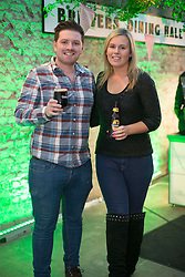 Repro Free: 14/03/2014 Thomas Crosse and Caitriona O'Connor <br /> pictured at the Guinness Storehouse St. Patrick&rsquo;s Festival. The four day festival is showcasing some of Ireland&rsquo;s best music, food and rugby over the weekend including an intimate performance by acclaimed rock band The Coronas. Enjoy GUINNESS sensibly. Visit drinkaware.ie Pic Andres Poveda