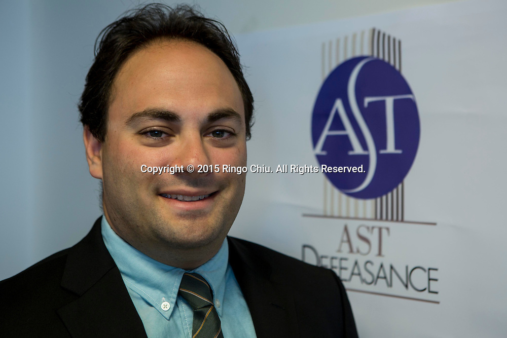 Eitan Weinstock, managing director, AST Defeasance.(Photo by Ringo Chiu/PHOTOFORMULA.com)