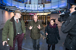 © Licensed to London News Pictures. 15/01/2018. London, UK. UKIP party leader HENRY BOLTON (centre) is seen leaving BBC Broadcasting House in London following interviews. Mr Bolton is under pressure after his partner, glamour model Jo Marney, wrote offensive text messages to friend. She has been suspended from the party. Photo credit: Ben Cawthra/LNP