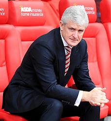 Stoke City Manager Mark Hughes  - Mandatory by-line: Matt McNulty/JMP - 02/04/2016 - FOOTBALL - Britannia Stadium - Stoke-on-Trent, England - Stoke City v Swansea City - Barclays Premier League
