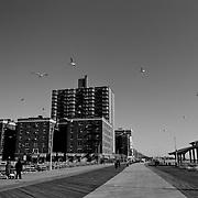 Coney Island. Promenade of Brooklyn Beach.