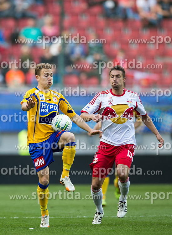 18.05.2014, Woerthersee Stadion, Klagenfurt, AUT, OeFB Samsung Cup, FC Red Bull Salzburg vs SKN St. Poelten, Finale, im Bild Dominik Hofbauer (SKN St.Poelten) gegen Stefan Ilsanker (FC Red Bull Salzburg) // during the mens OeFB Samsung Cup final match between FC Red Bull Salzburg vs SKN St. Poelten at the Woerthersee Stadium, Klagenfurt, Austria on 2014/05/18. EXPA Pictures © 2014, PhotoCredit: EXPA/ Johann Groder