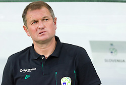 Head coach Matjaz Kek of Slovenia before the opening ceremony and opening friendly football match at a new stadium in Stozice between National teams of Slovenia and Australia on August 11, 2010 in Ljubljana. Slovenia defeated Australia 2-0. (Photo by Vid Ponikvar / Sportida)