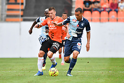 July 28, 2018 - France - Delaplace Jonathan (FC Lorient) - FONTAINE Jean-Pascal  (Credit Image: © Panoramic via ZUMA Press)