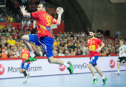 Gedeon Guardiola of Spain during handball match between National teams of Spain and Germany on Day 2 in Preliminary Round of Men's EHF EURO 2016, on January 15, 2016 in Centennial Hall, Wroclaw, Poland. Photo by Vid Ponikvar / Sportida