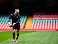 Liam Williams of Wales during the captains run<br /> <br /> Photographer Simon King/Replay Images<br /> <br /> Six Nations Round 3 - Captains Run - Wales v England - Saturday 22nd February 2019 - Principality Stadium - Cardiff<br /> <br /> World Copyright © Replay Images . All rights reserved. info@replayimages.co.uk - http://replayimages.co.uk