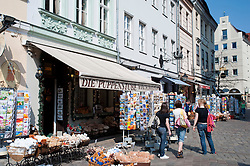 Shops in historic buildings in Nikolaiviertel district of Berlin 2009