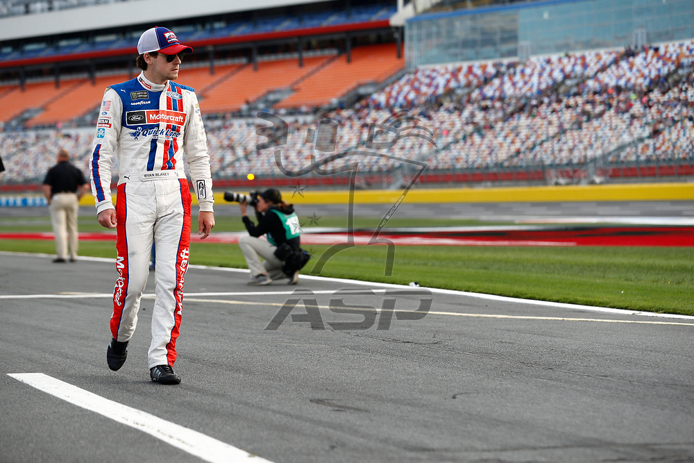 May 25, 2017 - Concord, NC, USA: Ryan Blaney (21) hangs out on pit road prior to qualifying for the Coca Cola 600 at Charlotte Motor Speedway in Concord, NC.