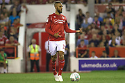 John Bostock (13) of Nottingham Forest during the EFL Cup match between Nottingham Forest and Derby County at the City Ground, Nottingham, England on 27 August 2019.