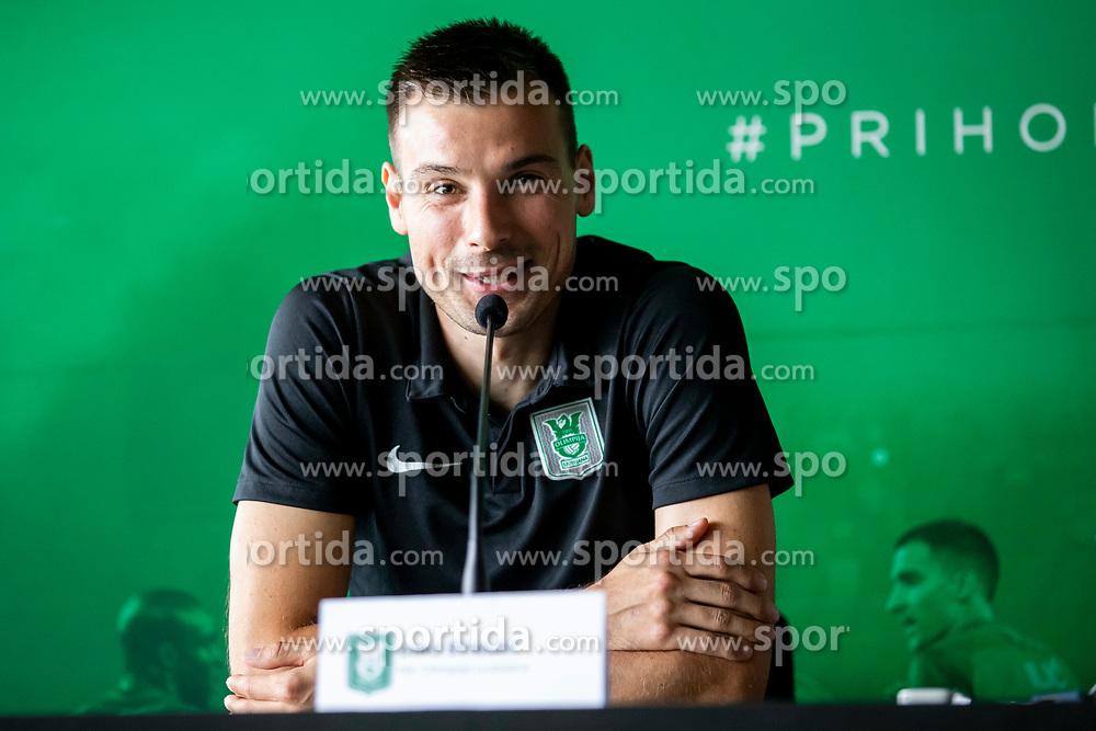 Dino Stiglec at press conference of NK Olimpija Ljubljana, on August 14, 2018 in SRC Stozice, Ljubljana, Slovenia. Photo by Urban Urbanc / Sportida
