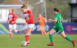 Charlotte Buxton of Yeovil Town Ladies applies pressure on Ella Rutherford of Bristol City- Mandatory by-line: Nizaam Jones/JMP - 27/01/2019 - FOOTBALL - Stoke Gifford Stadium - Bristol, England - Bristol City Women v Yeovil Town Ladies- FA Women's Super League 1