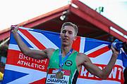 David KING, winner of the Men's 110m Hurdles Final during the Muller British Athletics Championships at Alexander Stadium, Birmingham, United Kingdom on 25 August 2019.