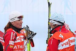 Petra Majdic of Slovenia talking to her coach Ivan Hudac after Ladies` Pursuit 7,5 km Classic + 7,5 km Free at FIS Nordic World Ski Championships Liberec 2008, on February 21, 2009, in Vestec, Liberec, Czech Republic. (Photo by Vid Ponikvar / Sportida)