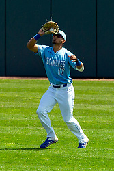 NORMAL, IL - May 01: Roby Enriquez during a college baseball game between the ISU Redbirds and the Indiana State Sycamores on May 01 2019 at Duffy Bass Field in Normal, IL. (Photo by Alan Look)