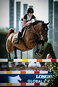 Paris, France : Jessica Springsteen riring RMF Swinny du Parc during the Longines Paris Eiffel Jumping 2018, on July 5th to 7th, 2018 at the Champ de Mars in Paris, France - Photo Christophe Bricot / ProSportsImages / DPPI