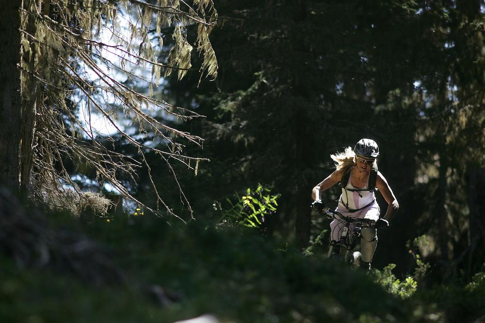 Rider: Karen Heller.Location: Verbier (Switzerland)