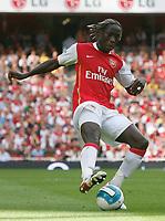 Photo: Steve Bond.<br />Arsenal v Derby County. The FA Barclays Premiership. 22/09/2007. Bacary Sagna controls the ball