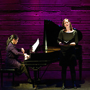 January 14, 2012 - Brooklyn, NY : .From left, piano Miori Sugiyama and mezzo-soprano Mary Nessinger perform the work of Charles Ives at the Galapagos Art Space in DUMBO, Brooklyn, on Saturday evening..CREDIT: Karsten Moran for The New York Times