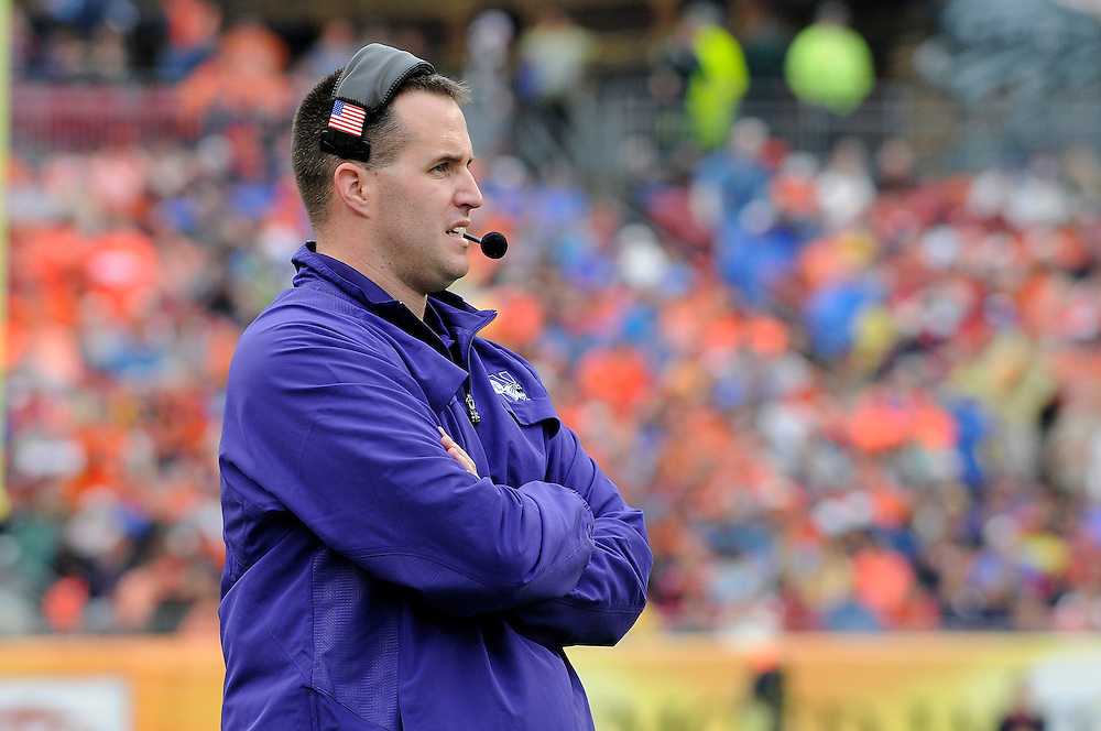 January 1, 2010: Head coach Pat Fitzgerald of the Northwestern Wildcats in action during the NCAA football game between the Northwestern Wildcats and the Auburn Tigers in the Outback Bowl. The Tigers defeated the Wildcats 38-35 in overtime.