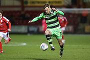Forest Green Rovers Dayle Grubb(8) runs forward during the EFL Sky Bet League 2 match between Crewe Alexandra and Forest Green Rovers at Alexandra Stadium, Crewe, England on 20 March 2018. Picture by Shane Healey.