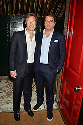 Left to right, DAVE CLARK and JAMIE REUBEN at a dinner to celebrate the launch of Genetic - Liberty Ross hosted by Liberty Ross and Ali Fatourechi at Annabel's, 44 Berkeley Square, London on 3rd September 2014.
