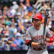 Joey Votto, Cincinnati Reds, batting during the New York Mets Vs Cincinnati Reds MLB regular season baseball game at Citi Field, Queens, New York. USA. 28th June 2015. Photo Tim Clayton