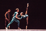 Based in Dresden, the Semperoper Ballett is internationally renowned for its distinguished ballet technique with both classical and contemporary repertoire. <br /> All Forsythe' features three pieces by William Forsythe, and this is the first of the three: In the Middle, Somewhat Elevated.  Picture features Aidan Gibson & Christian Bauch. ©Tony Nandi.2018