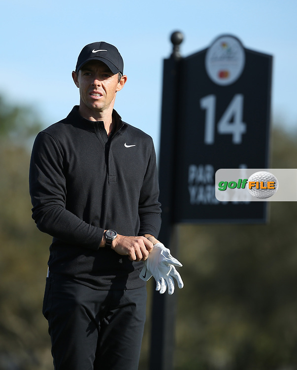 Rory McIlroy (NIR) on the 14th tee during the 3rd round of the Arnold Palmer Invitational presented by Mastercard, Bay Hill, Orlando, Florida, USA. 07/03/2020.<br /> Picture: Golffile | Scott Halleran<br /> <br /> <br /> All photo usage must carry mandatory copyright credit (© Golffile | Scott Halleran)