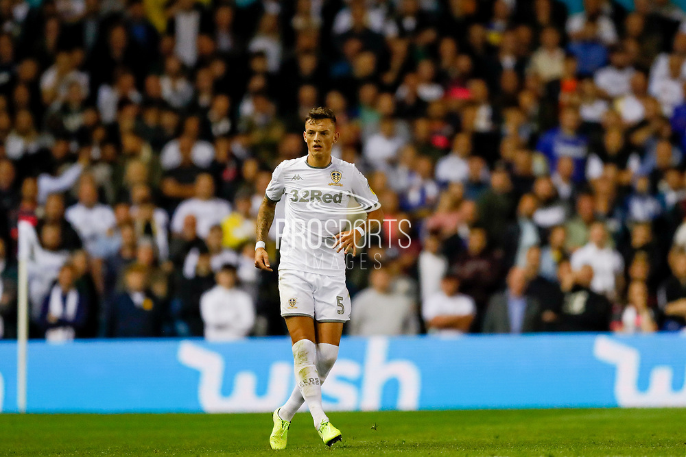 Leeds United defender Ben White (5), on loan from Brighton & Hove Albion,  during the EFL Sky Bet Championship match between Leeds United and Brentford at Elland Road, Leeds, England on 21 August 2019.