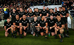 New Zealand with the Killik Cup - Mandatory by-line: Robbie Stephenson/JMP - 04/11/2017 - RUGBY - Twickenham Stadium - London,  - Barbarians v All Blacks - Killik Cup