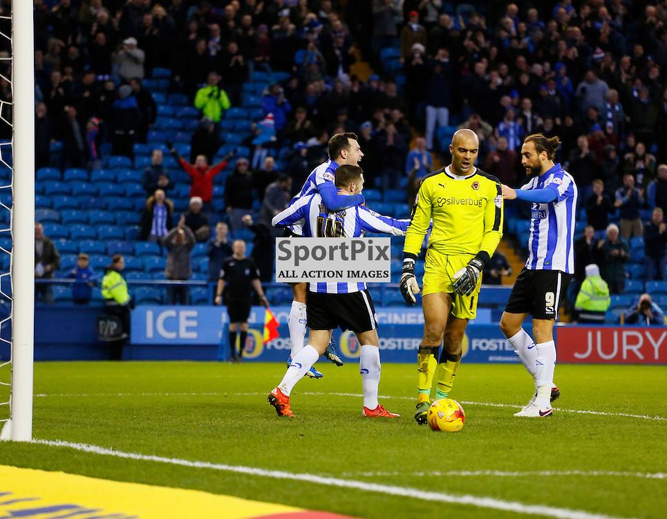 Gary Hooper celebrates his goal during Sheffield Wednesday v Wolves, SkyBet Championship, Sunday 20th December 2015, Hilsborough, Sheffield