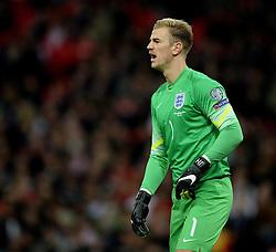 Joe Hart of England (Manchester City) - Photo mandatory by-line: Alex James/JMP - Mobile: 07966 386802 - 15/11/2014 - SPORT - Football - London - Wembley - England v Slovenia - EURO 2016 Qualifier