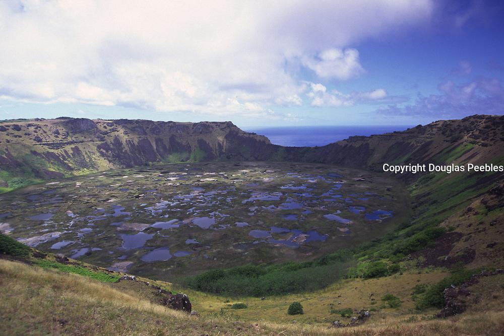 Rano Kau, volcanic crater, Easter Island (Rapa Nui), Chile<br />