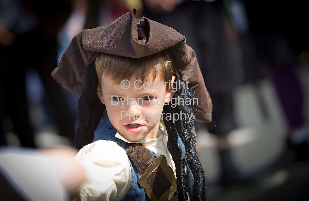 1/7/2011.no charge for repro.Ben Ablett aged 5 from Tramore pictured at the Guinness World Record attempt at the most pirates in one place at the Tall Ships Races in Waterford yesterday..Picture Dylan Vaughan