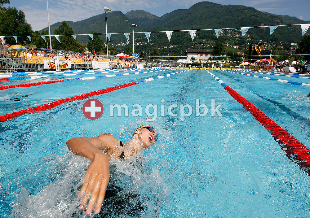 SCSH's Marina RIBI of Switzerland competes in the women's 200m breaststroke heats at the Swiss Swimming Summer Championships in Tenero, Switzerland, Sunday, July 5, 2009. (Photo by Patrick B. Kraemer / MAGICPBK)