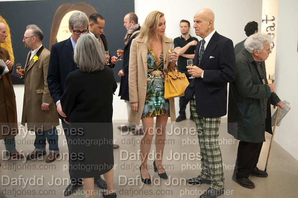 TIMOTHY TAYLOR; BETTINA BALHSEN; ALEX KATZ;, Alex Katz opening. Timothy Taylor gallery. London. 3 March 2010.