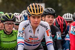 BRAMMEIER Nikki (GBR) waiting on the startline before the Women's race, UCI Cyclo-cross World Cup at Valkenbrug, The Netherlands, 23 October 2016. Photo by Pim Nijland / PelotonPhotos.com | All photos usage must carry mandatory copyright credit (Peloton Photos | Pim Nijland)