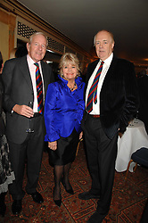 Left to right, NEIL DURDEN-SMITH, JUDITH CHALMERS and SIR TIM RICE at a tribute lunch for Elaine Paige hosted by the Lady Taverners at The Dorchester, Park Lane, London on 13th November 2007.<br /><br />NON EXCLUSIVE - WORLD RIGHTS