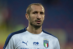 October 14, 2018 - Chorzow, Poland - Giorgio Chiellini of Italy during the UEFA Nations League A match between Poland and Italy at Silesian Stadium in Chorzow, Poland on October 14, 2018  (Credit Image: © Andrew Surma/NurPhoto via ZUMA Press)