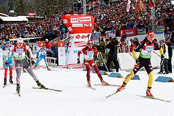 10.12.2011, Biathlonzentrum, Hochfilzen, AUT, E.ON IBU Weltcup, 2. Biathlon, Hochfilzen, Verfolgung Herren, im Bild Schempp Simon (GER) beim Start (rechts) mit Sikora Tomasz (POL) Anev Krasimir (BUL) // during E.ON IBU World Cup 2th Biathlon, Hochfilzen, Austria on 2011/12/10. EXPA Pictures © 2011. EXPA Pictures © 2011, PhotoCredit: EXPA/ nph/ Straubmeier..***** ATTENTION - OUT OF GER, CRO *****