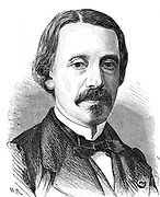 (Jean Bernard) Leon Foucault (1819-1868)  French physicist. Velocity of light: Rotation of earth: Gyroscope. Silver-on-glass telescope mirrors. Engraving