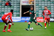 Graham Carey (10) of Plymouth Argyle on the attack during the EFL Sky Bet League 2 match between Plymouth Argyle and Accrington Stanley at Home Park, Plymouth, England on 1 April 2017. Photo by Graham Hunt.