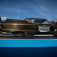 Murray O'Connor (1629) launching his XM Falcon Top Doorslammer at the Perth Motorplex.
