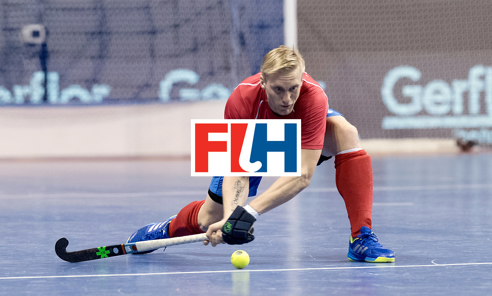 BERLIN - Indoor Hockey World Cup<br /> Men: Australia - Czech Republic<br /> foto: Jakub Kyndl.<br /> WORLDSPORTPICS COPYRIGHT FRANK UIJLENBROEK