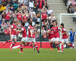 Arsenal Ladies player Kelly Smith (10) celebrates after scoring a goal   - Photo mandatory by-line: Nigel Pitts-Drake/JMP - Tel: Mobile: 07966 386802 01/06/2014 - SPORT - FOOTBALL - LADIES - Stadium mk - Milton Keynes - Arsenal Ladies v Everton Ladies - The FA Women's Cup Final