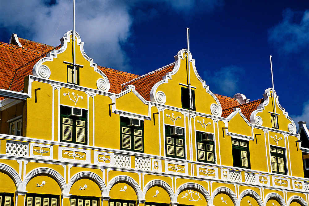 Dutch architecture, Punda section of Willemstad, Curacao, Netherlands Antilles