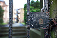 Old gate and lock