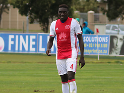 Ajax Cape Town defender Timothy Awany  in a friendly game v NFD club Cape Town All Stars at Ikamva on August 10, 2017 in Cape Town, South Africa.