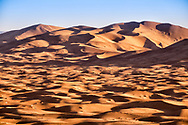 The desert dunes in the Moroccan Sahara at Erg Chebbi