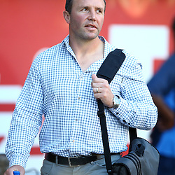 DURBAN, SOUTH AFRICA - MAY 05: Aaron Mauger (Head Coach) of the Pulse Energy Highlanders during the Super Rugby match between Cell C Sharks and Highlanders at Jonsson Kings Park Stadium on May 05, 2018 in Durban, South Africa. (Photo by Steve Haag/Gallo Images)